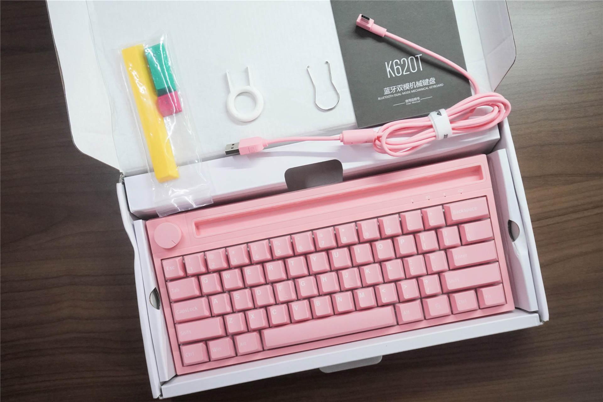 男生不配粉色鍵盤?黑爵新品機械鍵盤開箱體驗:這段落感有點愛