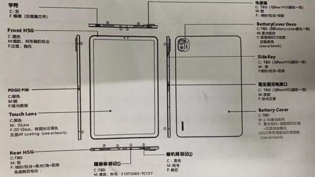 售價2000元不到,小米平板5設計圖曝光